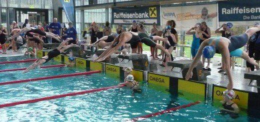 Start an der Schwimmbahn